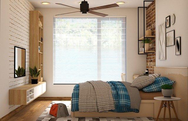 ložnice s pohodlnou postelí